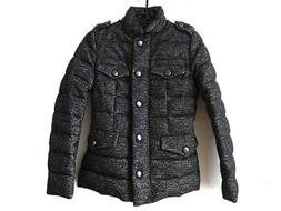Auth MONCLER CACHALOT Black Cream Womens Down Jacket Wool He