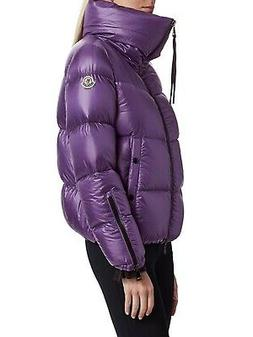 Moncler AUTH NEW Logo Patch High Neck Puffer 2 M Quilted Dow