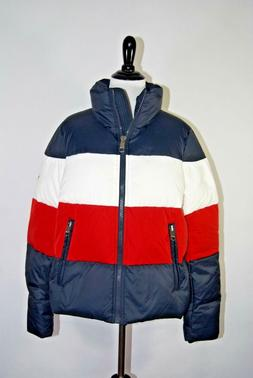 Tommy Hilfiger Colorblock Down Puffer Jacket. Size Small. NW