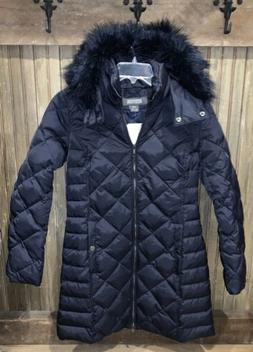Kenneth Cole Reaction Diamond Quilted Down Parka Coat 17KMD5