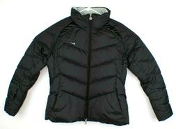 Nike Down Fill Jacket Womens Size L Black Very Nice Conditio