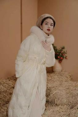 """""""Hansu"""" Special Craft Embroidered Fairy Color Down Jacket Re"""