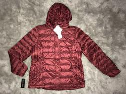 32 Degrees Heat $120 Red Packable Ultra Light Down Hooded Ja