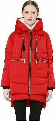 Orolay Women's Thickened Down Jacket (Most Wished &Gift, Red