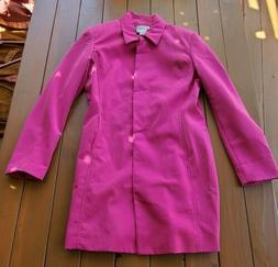Ladies Newport News Easy Style Pink Button Down Lined Jacket
