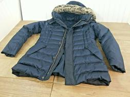 LANDS END WOMENS SIZE SMALL DOWN FEATHER JACKET LONG PUFFER