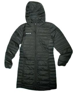 Columbia Mckay Lake Long Down Hooded Insulated Black Puffer