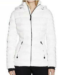 nautica white puffer jacket with removable hood
