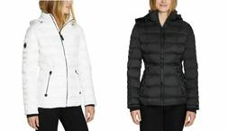 Nautica Ladies' White Puffer Jacket With Removable Hood