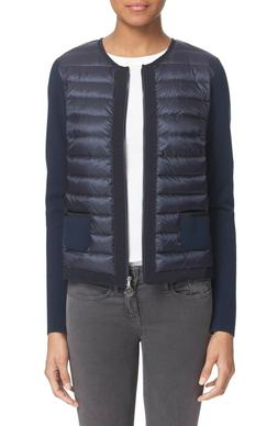 MONCLER Navy Blue MAGLIA Zip Front Quilted Down Front Tricot