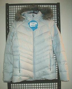 NEW Ladies Sz Small COLUMBIA Icy Heights Down Jacket - Silve