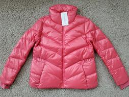 NWT $198 ATHLETA LOFTY DOWN JACKET Puffy Coat CORAL RED Wome