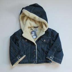 NWT Levi's Made & Crafted Cropped Sherpa Trucker in Borro St