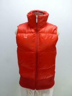 Nike red Goose Down fill Puffer Vest jacket coat french zip