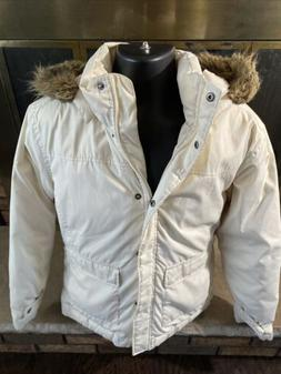 Columbia Winter White Down Faux-Fur Hooded Winter Parka Jack