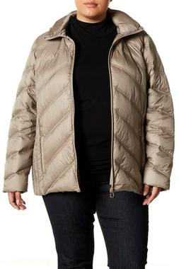 MICHAEL KORS Women's Hooded Quilted Packable Down Puffer Jac