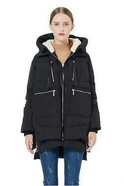 Orolay Women's Thickened Down Jacket Black M, Black, Size Me