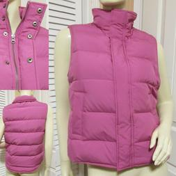 THEORY Womens Down Jacket Vest Puffer Coat M Pink Fall Winte