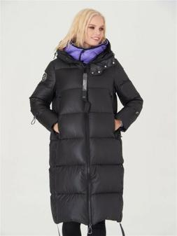 womens goose down feather jacket long size