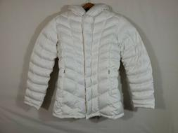 Patagonia Womens Large Down With Hood Jacket. Parka Off Whit