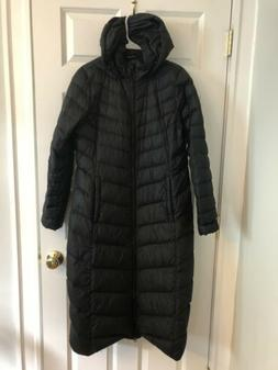 The North Face Womens Medium Black Extra Long Quilted 700 Do