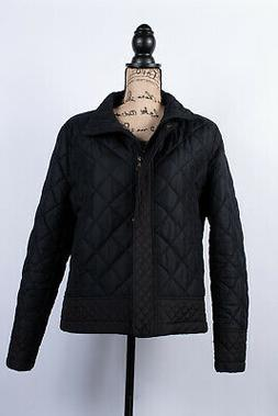 Tommy Hilfiger Womens Puffer Quilted Down Jacket black Size