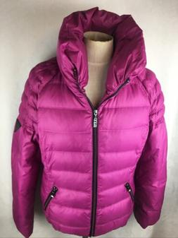GUESS Women's Size L DOWN Puffer Coat Jacket Magenta / Pur