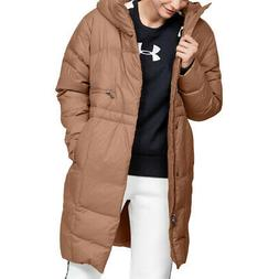 Under Armour Womens UA Down Parka Brown Sports Outdoors Full