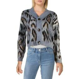 RD Style Womens Woo Blend Printed Button Down Cardigan Sweat